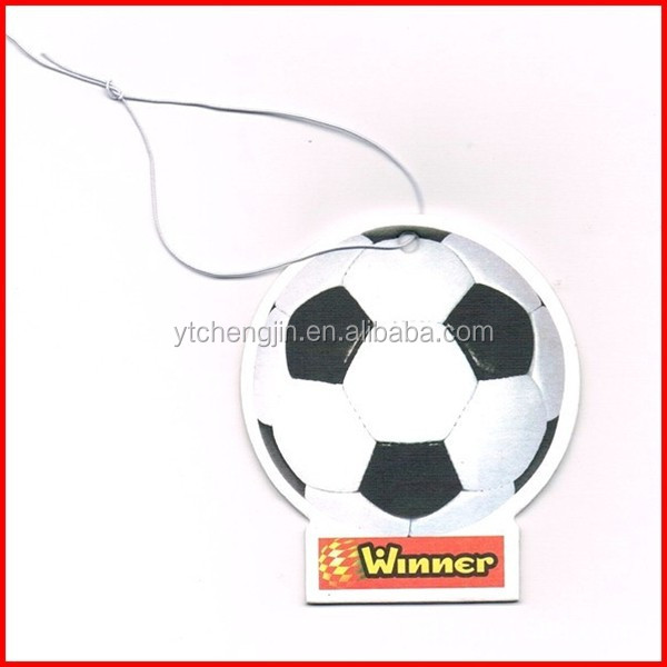 customized hanging football car air freshener for wholesale