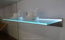 glass shelf brackets / tempered glass shelves / bathroom corner glass shelf
