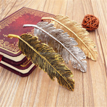 Feather leaf metal barrette hair clip gold and sliver colours metal snap hair clips