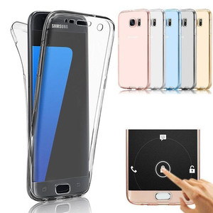Hot Sale Mobile Phone Cover 360 Degree Front + Back Silicone Transparent TPU Bumper Case for Huawei P8/P8 Lite/P9/G8