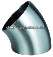 stainless steel pipe elbow 45 degree dimensions
