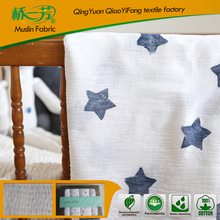 hot sale soft touch 100% organic Cotton Bamboo Baby Muslin crib sheet with high quality