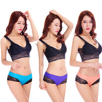 Top quality 90 nylon 10 spandex one piece ice silk women underwear panties from China