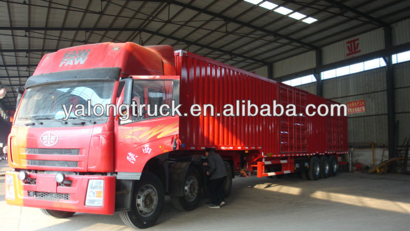 China supplier 2015 new type Box cargo transport semi trailer Van Cargo Truck Trailer export to Southeast Asia