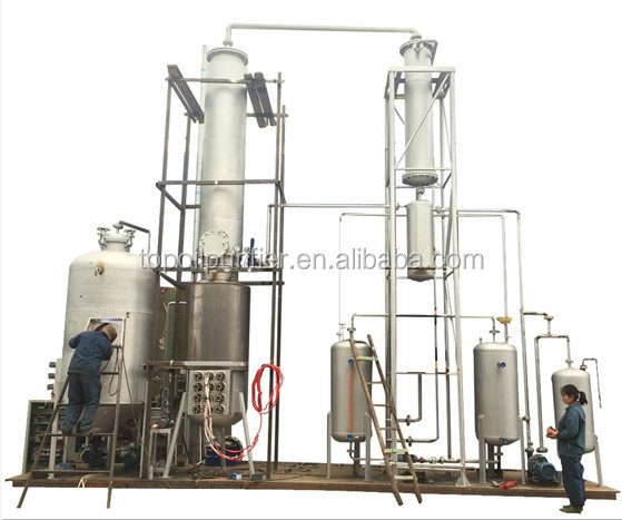Car used motor oil to diesel fuel oil distillation plant, 20000 liters per day, no chemical required, oil distillation machine