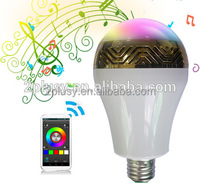 E27 RGB LED Magic Color Android & IOS APP Bluetooth Speaker Bulb