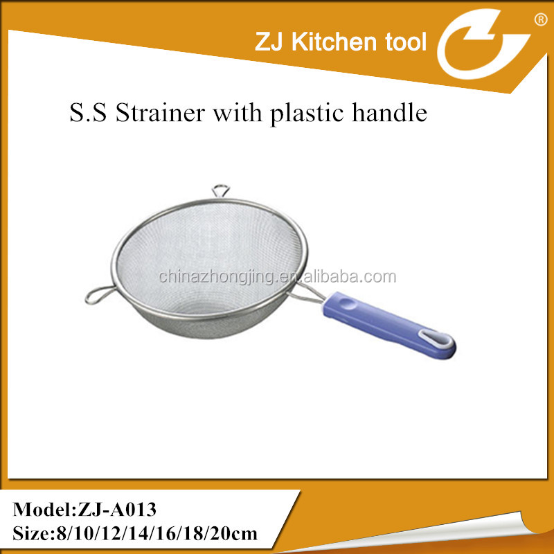 Two ears plastic handle stainless steel colander for kitchener