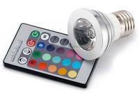 Ce/rohs approved e27 romote control 16 color rgb led globe light bulbs