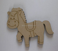 MDF board carved decorative horse for gift