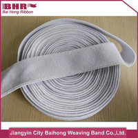 40mm wide white color polyester+cotton+latex material elastic sport running headband
