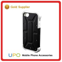 [UPO] Wholesale Shockproof Multicolor 3 in 1 Hard Plastic PC White Silicone Cell Phone Case for iPhone 5 5s