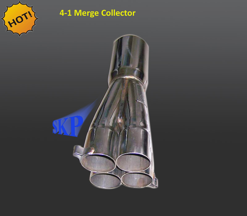 "SKP Racing Stainless Steel 4-1 Merge Collector 2.0"" OD 3.5"" OD Spec: Length: 12.5"" Four pipes: 2.0"" OD 1.925"" ID Single pip"