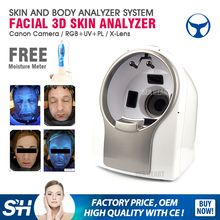 Hot sell magic mirror facial skin analyzer machine / 3d face camera