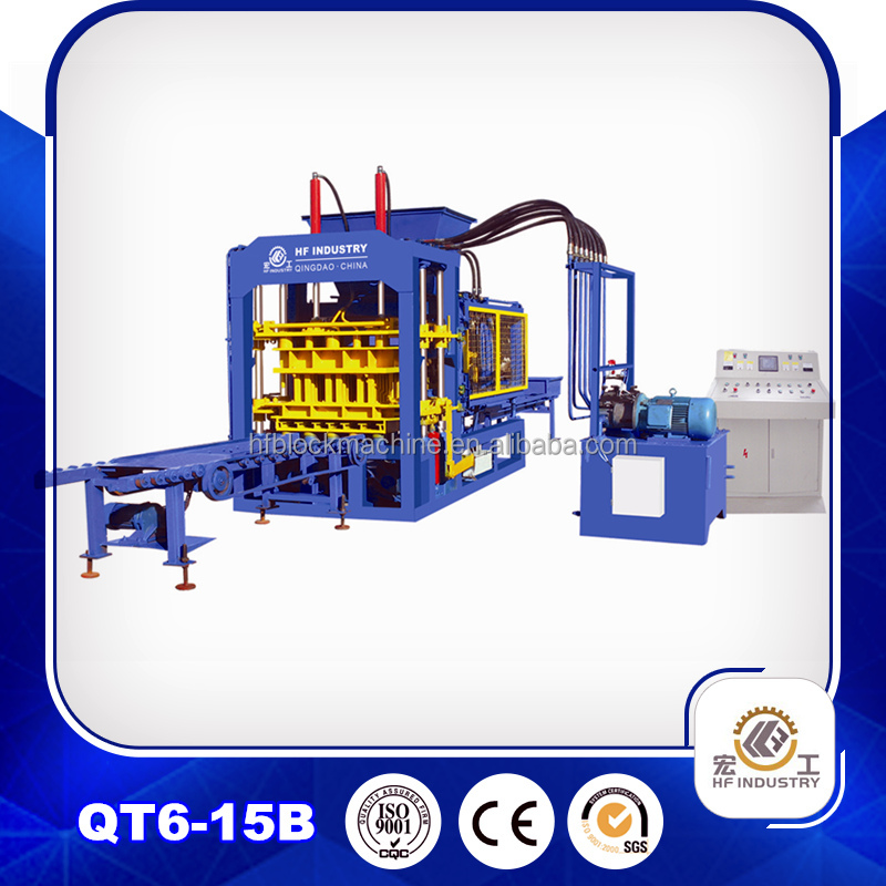 6-15 hydraulic pressure Method and paving block making machine type hydraform brick making machine