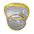 eco friendly printable round clear PVC washing bag