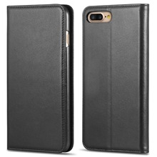 Top Sell Genuine Leather Wallet Filp Case for iphone 7 plus