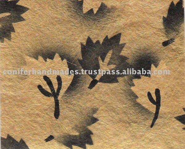Decorative Brush Painted Handmade Papers