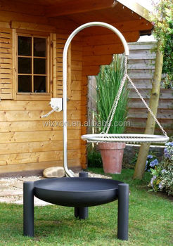 Hanging grill buy grill charcoal grill fire bowl grill for Hanging fire bowl