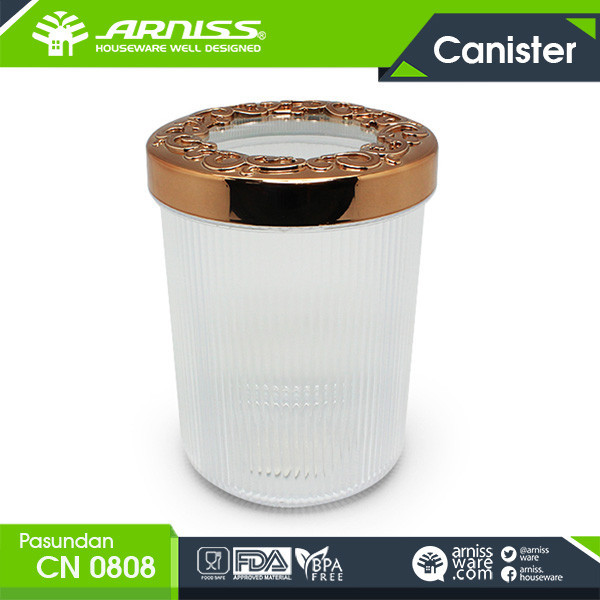 Arniss clear storage canister for dry nuts