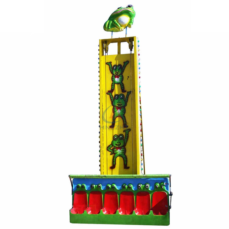 Funny equipment frog jumping frog hopper ride for children