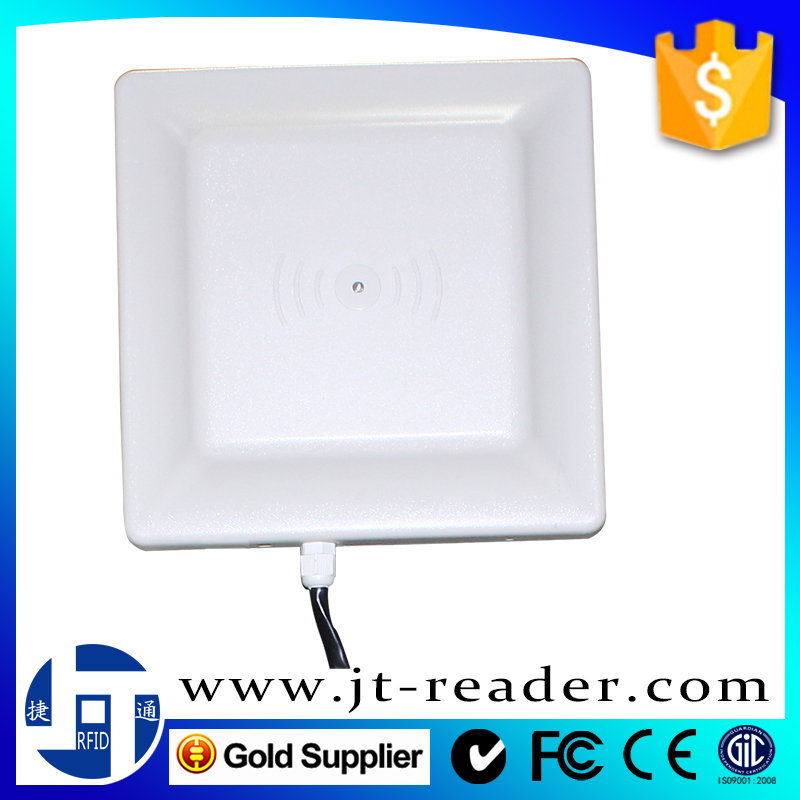 passive impinj r2000 chip waterproof rfid uhf 860-960mhz fixed integrated card reader with middle read range