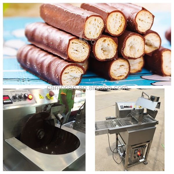 Factory supply small chocolate enrobering machine with cooling tunnel