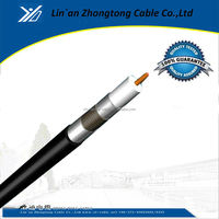 100M Coil packing 1.02mm CCS RG6 tri shield coaxial cable