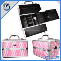 MLD-AB07 Jiaxing Melody Professional Manufacturing Lockable Heavy Duty Aluminum Makeup Train Case