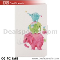 Three Colourful Elephant Filp Stand PU Leather Case Cover for Samsung Tablet Galaxy Tab 4 8.0 T330