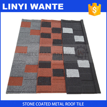 2017 most popular Low cost colorful sand coated roofing shingles manufactured in China