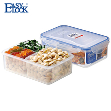 BPA Free Plastic Clear Multi compartment Food Container with dividers