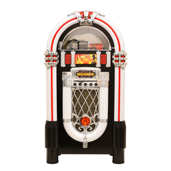 big wooden bluetooth speaker jukebox With CD drawer