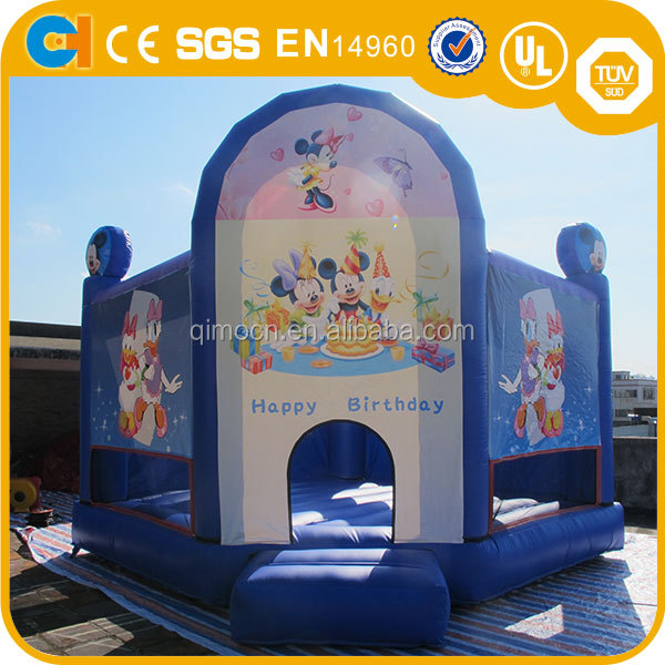 Inflatable bounce house with mickey mouse advanced printed , inflatable toy bouncer with printing cartoon