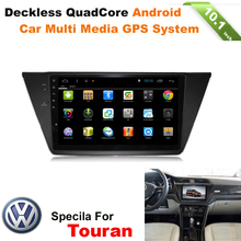 1DIN ANDROID CAR DVD HEADUNIT RADIO GPS NAVIGATION SYSTEM FOR VW TOURAN 2015 2016 WITH WIFI INTERNET