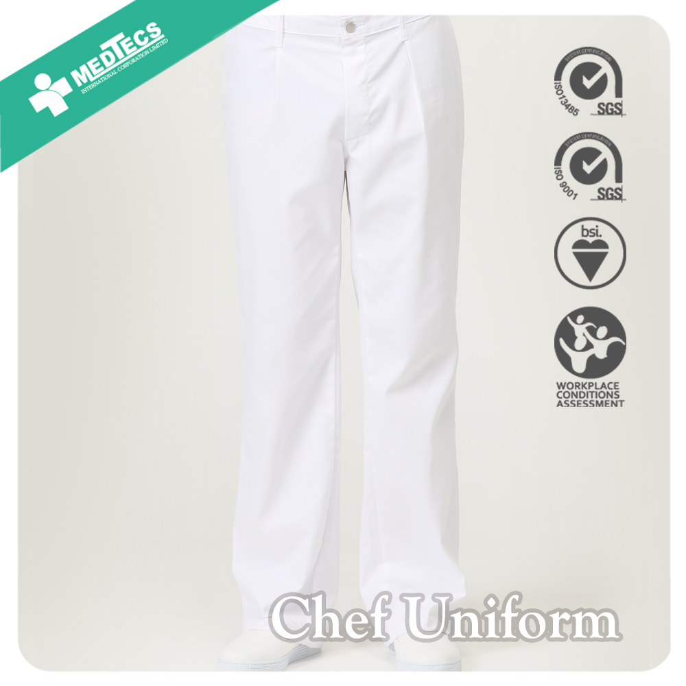 Durable Cook Clothes Suit With White Dress Shirt And Linen Pants