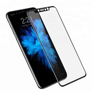 3D 9H Tempered Glass For iPhone X Screen Protector , Full glass mobile phone screen protector for iphone x