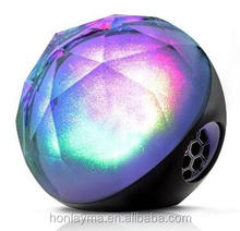 Wireless Speaker, Portable LED Color Ball 10 Hours Stereo Bluetooth Speaker with Remote Control/Support TF Card