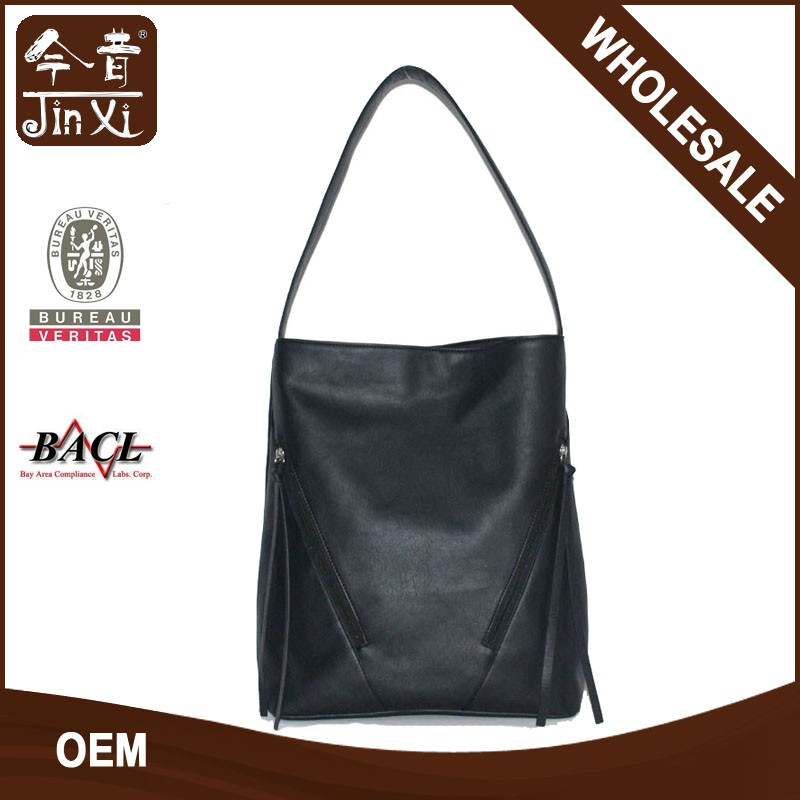Wholesale cheap PU fashion bucket bag leather shoulder bag