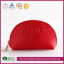 Elegant Fashion red Support custom logo tabby PU pu purse wallet low price ladies custom coin pouch wholesale