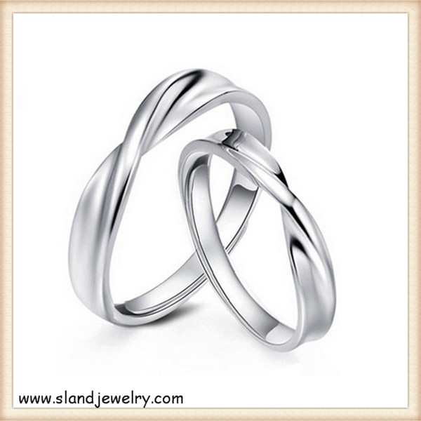 Part twisted artisan sterling silver rings - wholesale s925 high quality silver plated ring set jewelry for engagement