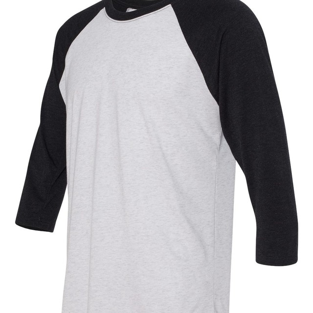 High Quality Wholesale White Bulk Blank Raglan Sleeve T Shirt With Long Sleeve