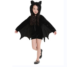 china wholesale black siamese bat cosplay halloween costumes for kids