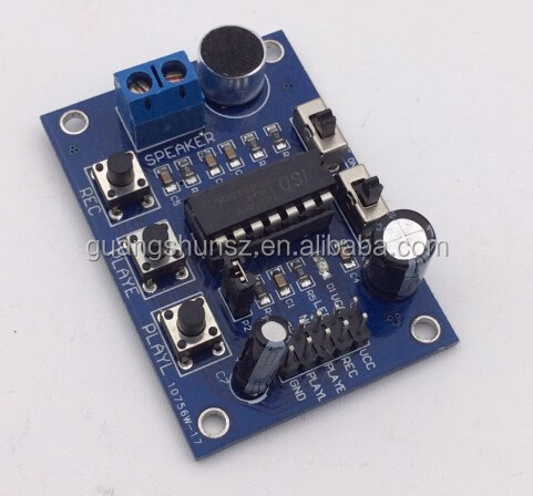 ISD1820 Voice Board Sound Recorder Module with Microphones and Terminal