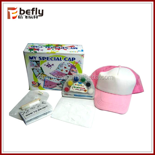 DIY paint canvas cap special toys for sale
