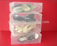 wholesale transparent plastic packaging box for shoes