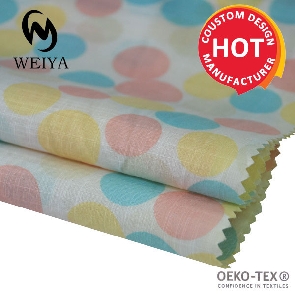 Custom 100% cotton printed muslin fabric for baby