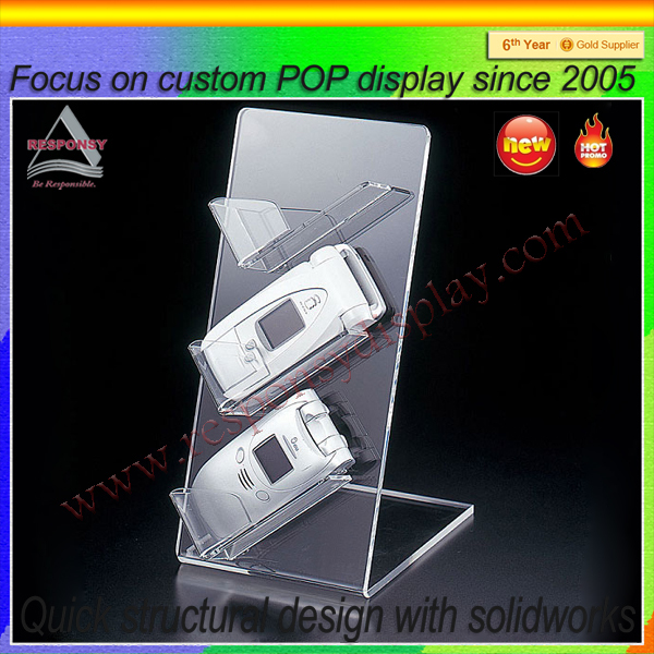 Acrylic ecomical customized mobile phone display stand