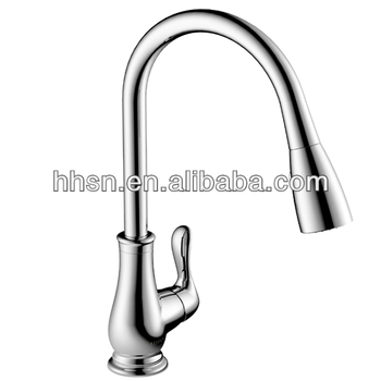 CUPC pull down brass kitchen faucet