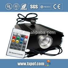waterproof Remote Control DMX 45W LED RGB Optical Fiber Light engine Optical Fiber Generator