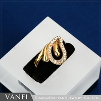 unique latest design 18k gold plated new beautiful finger ring
